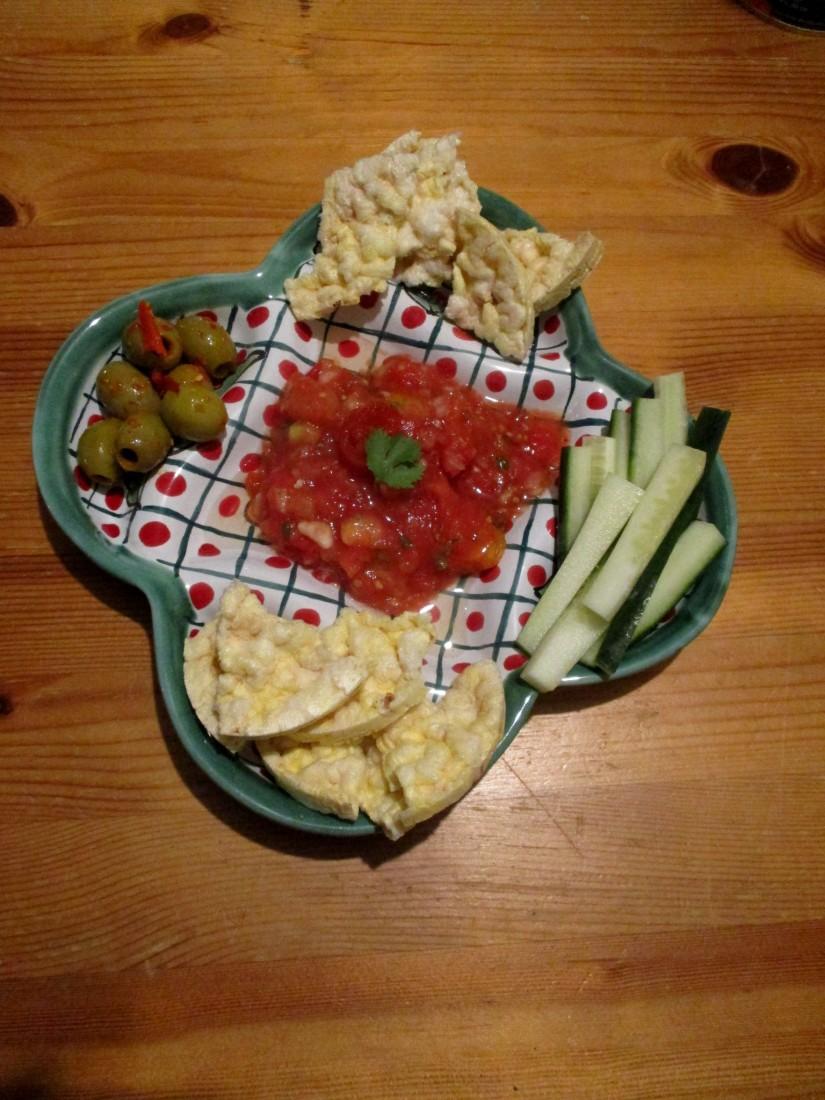 vloeiende tomaten salsa gezonde snack suikervrij e-nummervrij veganistisch vegan glutenvrij lactosevrij