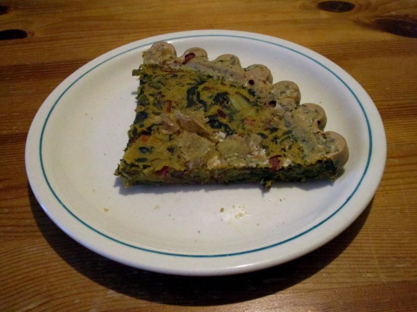 groente tortilla warmoes quiche snijbiet bietenblad spinazie kikkererwtenmeel vegan veganistisch suikervrij e-nummervrij glutenvrij