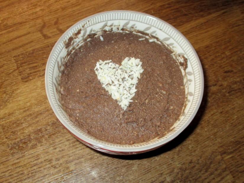 pudding chocolade banaan kokos veganistisch vegan suikervrij lactosevrij glutenvrij e-nummervrij