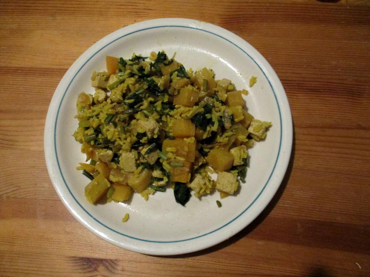 bieten met rijst vegan veganistisch