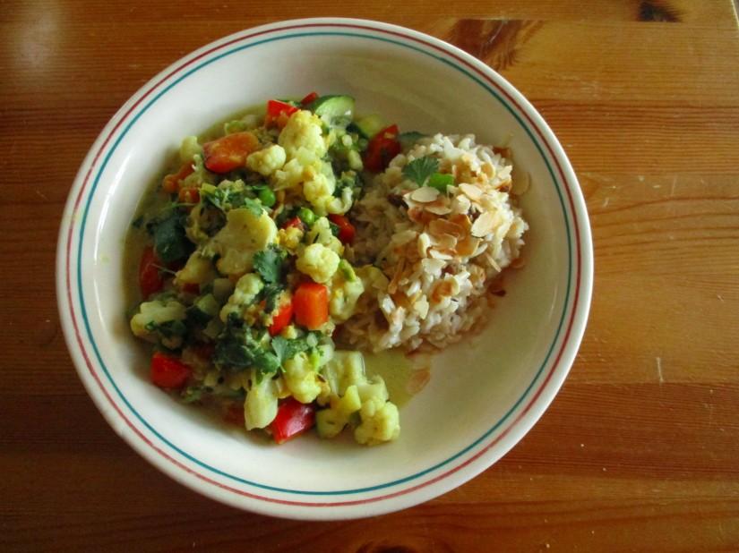 curry met kokosmelk vegan veganistisch suikervrij e-nummervrij glutenvrij lactosevrij