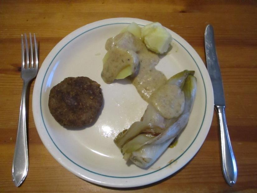 witloof met veganistische witte saus sojavrij