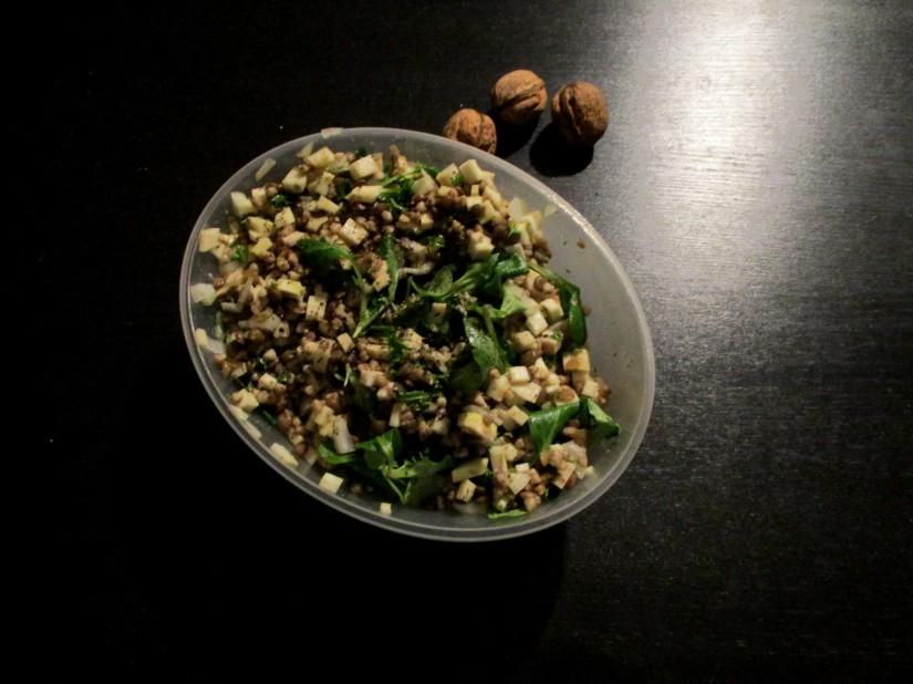 Franse linzensalade vegan veganistisch lactosevrij glutenvrij eivrij suikervrij