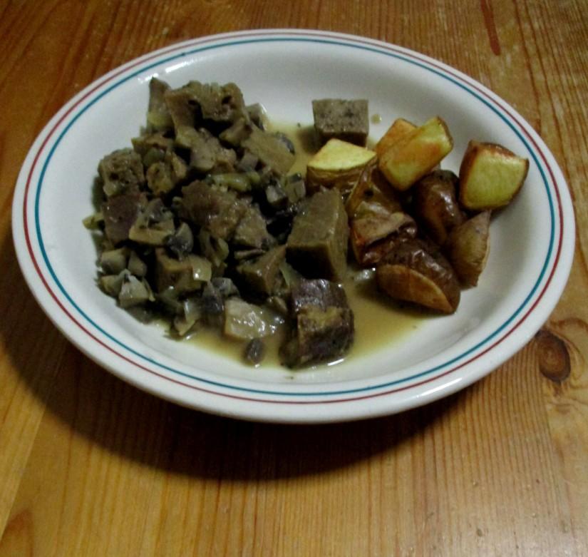 Stoofpotje seitan veganistisch stoofvlees vegan lactosevrij