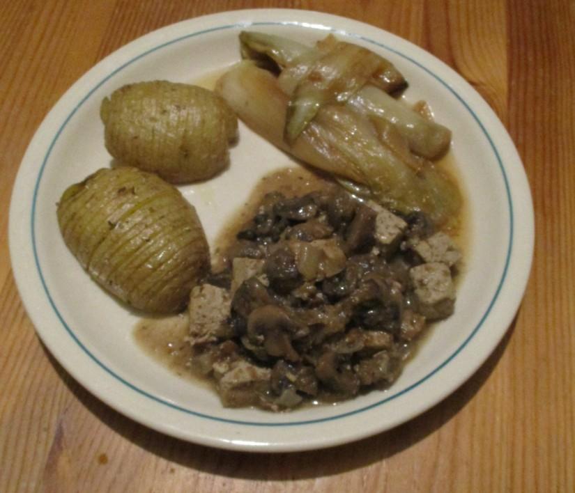 veganistisch stoofvlees met tofu