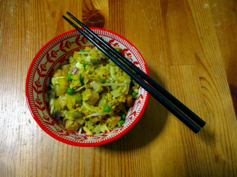 nasi goreng vegan veganistisch ei-vrij