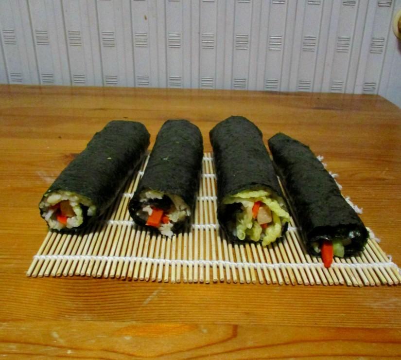 vegan sushi veganistisch suikervrij e-nummervrij lactosevrij eivrij