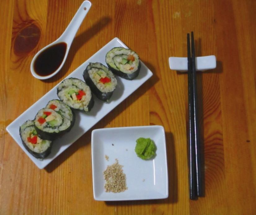 vegetarische sushi vegan