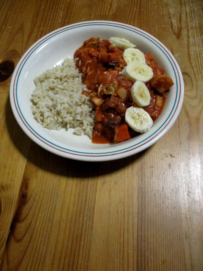 Afrikaans stoofpotje vegan veganistisch suikervrij e-nummervrij glutenvrij lactosevrij