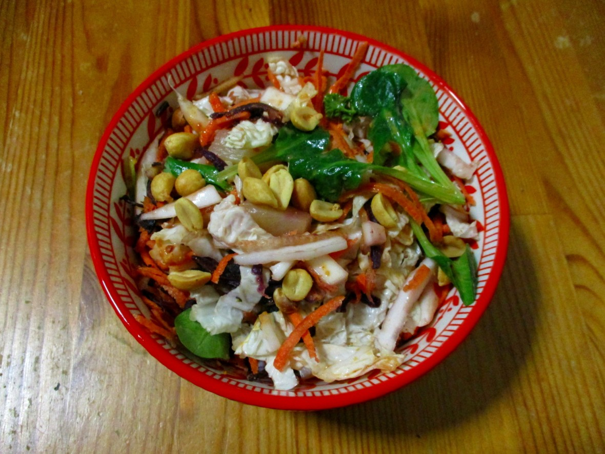 Chinese koolsalade vegan veganistisch glutenvrij suikervrij eivrij