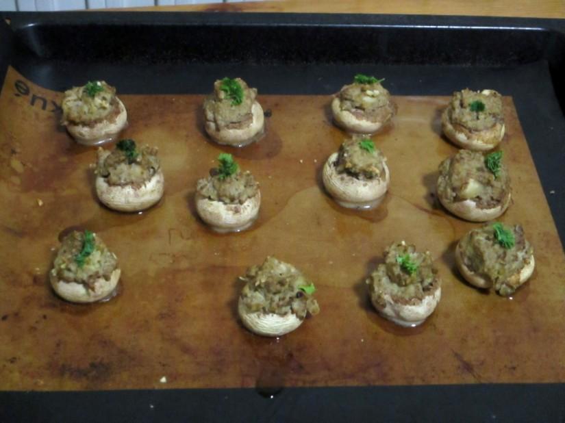 gevulde champignons vegan veganistisch glutenvrij suikervrij e-nummervrij lactosevrij