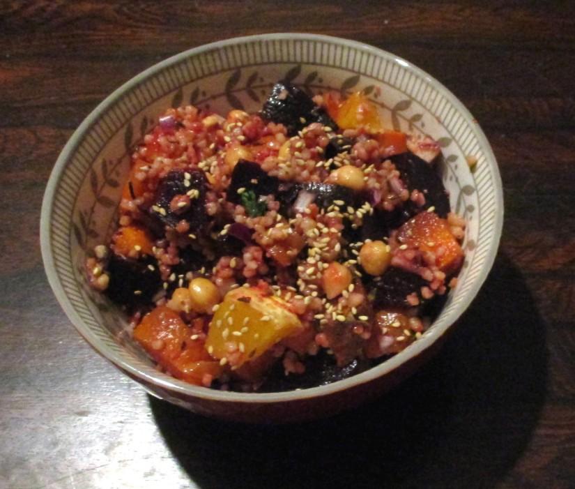veganistische bietensalade met citrus