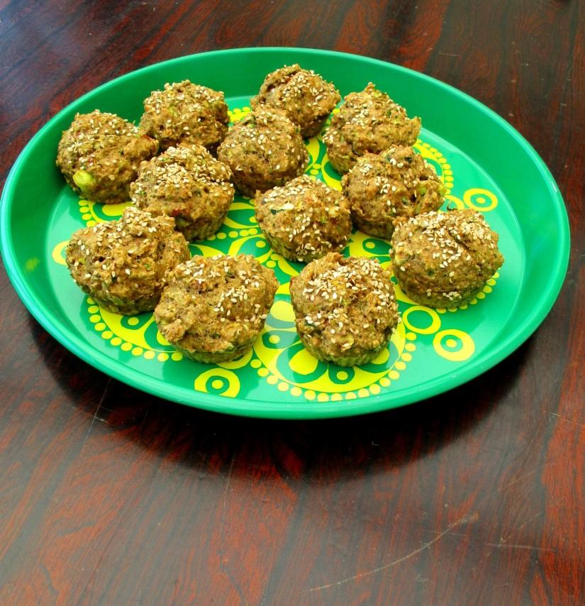 hartige courgettecakejes suikervrij vegan veganistisch lactosevrij eivrij