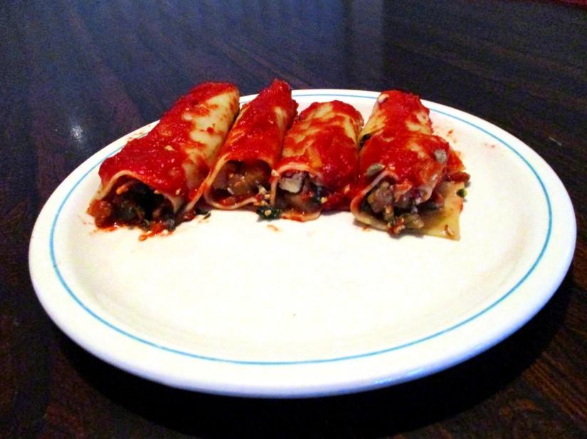 vegan cannelloni spinazie eivrij lactosevrij veganistisch