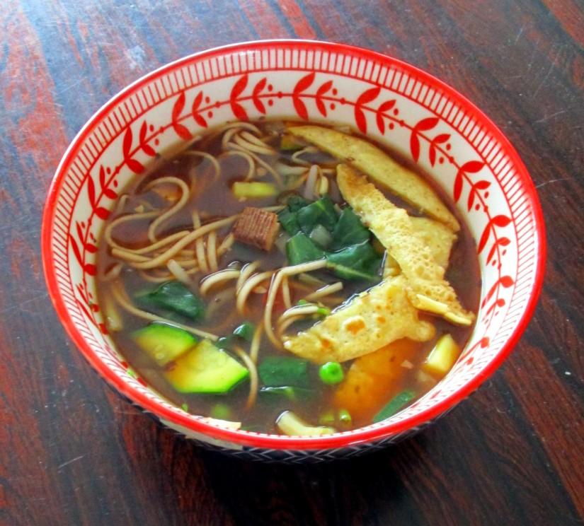 aziatische maaltijdsoep vegan veganistisch lactosevrij