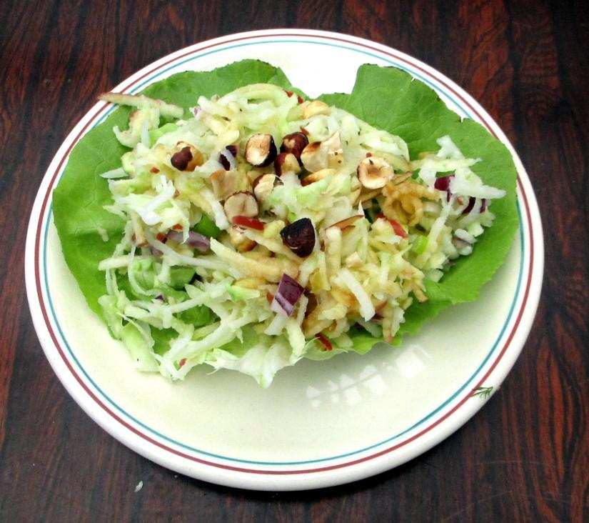 koolrabisalade met appel vegan veganistisch glutenvrij suikervrij