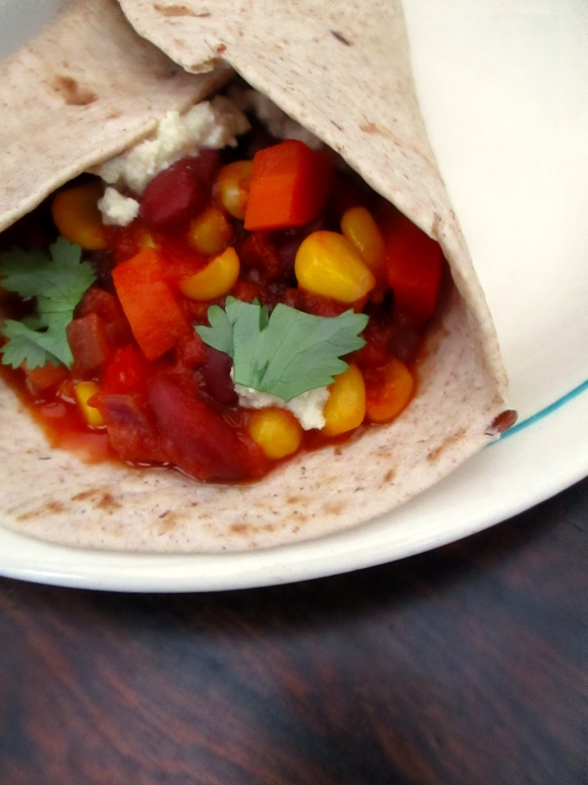 vegan fajitas veganistisch chili sin carne sojavrij melkvrij avocadovrij