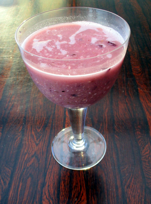 ontbijtsmoothie met pruimen vegan veganistisch suikervrij glutenvrij lactosevrij