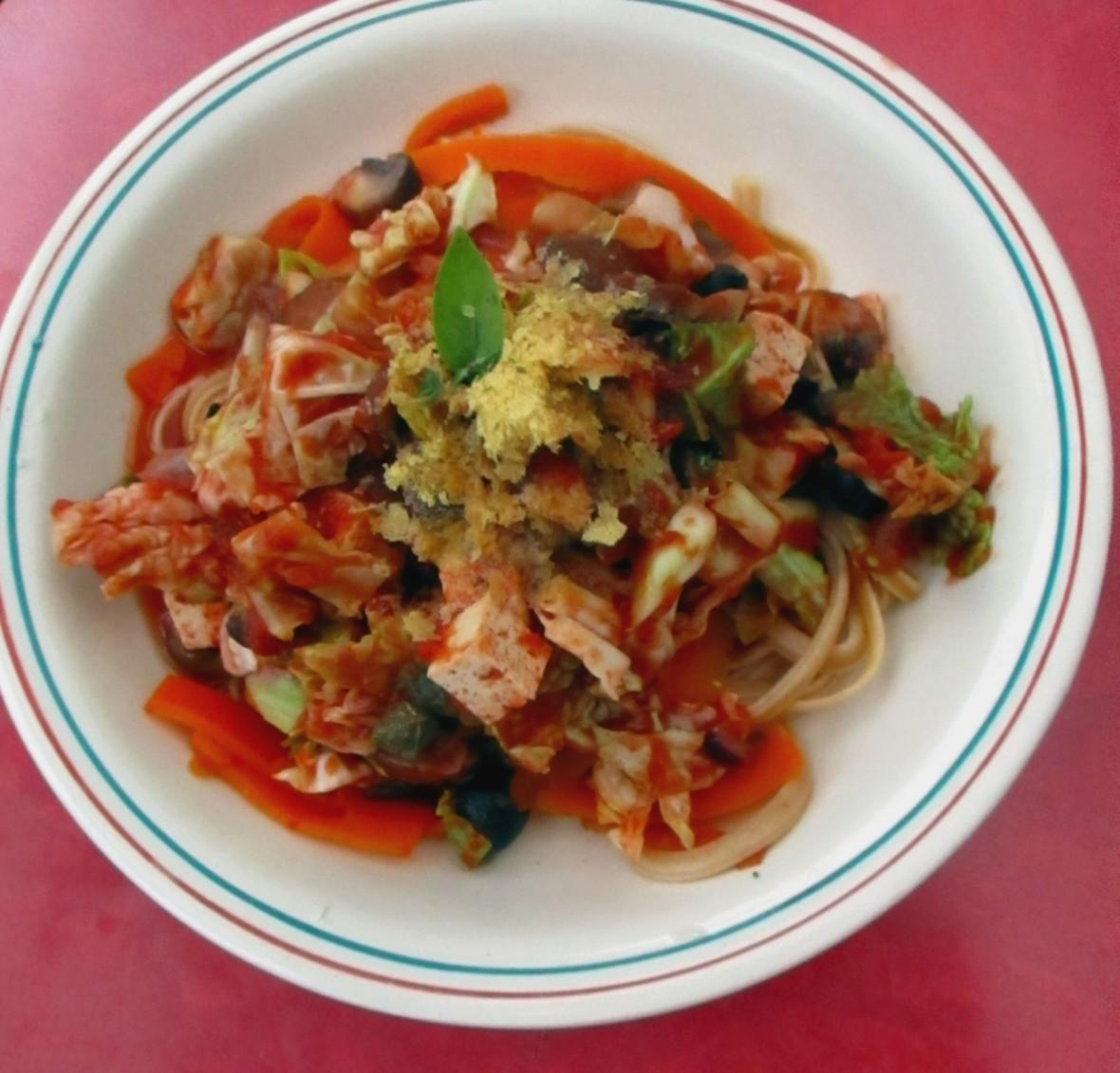 tagliatelle met savooi en champignons groene kool vegan veganistisch eivrij lactosevrij vegetarisch